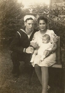 My Grandmother, Grandfather, and mom. 1943